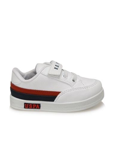 U.S. Polo Assn. Jamal 9Pr Erkek Çocuk Sneaker Ayakkabı Beyaz